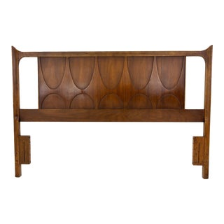 Vintage Mid-Century Modern Broyhill Brasilia Full / Queen Headboard For Sale