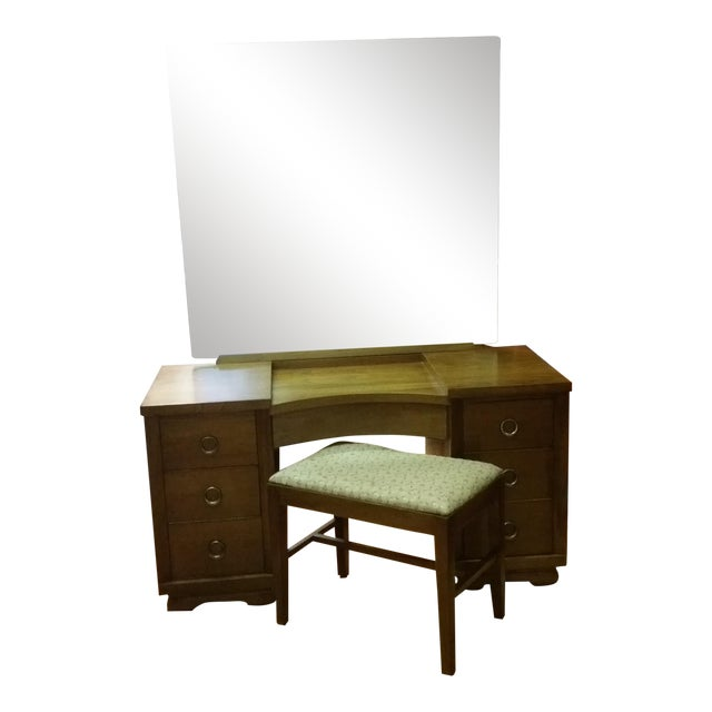 Kent Coffey Dreamette Vanity Dresser & Bench - Image 1 of 10