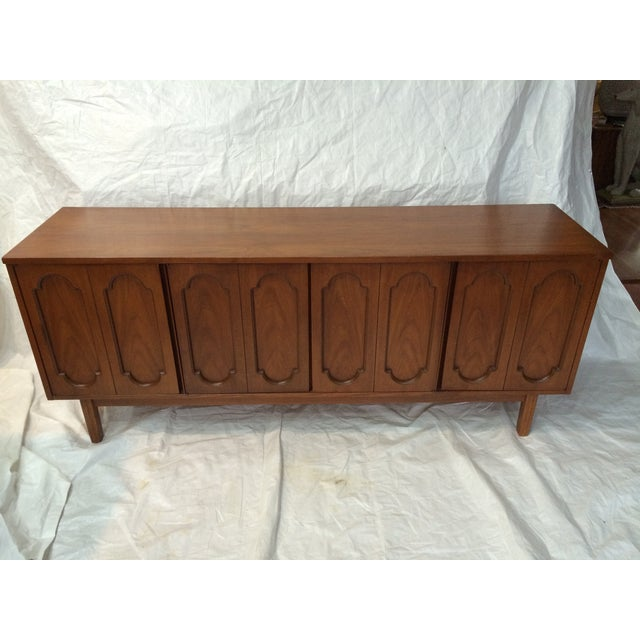 Dixie Mid-Century Inset Panel Sideboard For Sale In Raleigh - Image 6 of 7