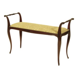 19th C. French Rococo Bench For Sale