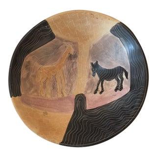 Handmade African Ceramic Bowl For Sale