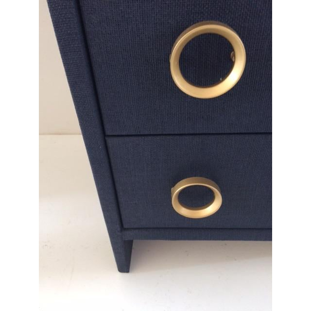 Contemporary Todd Hase Three Drawer Burlap Wrapped Chest For Sale - Image 12 of 13