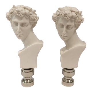 Neoclassical David Bust Finials – Pair For Sale