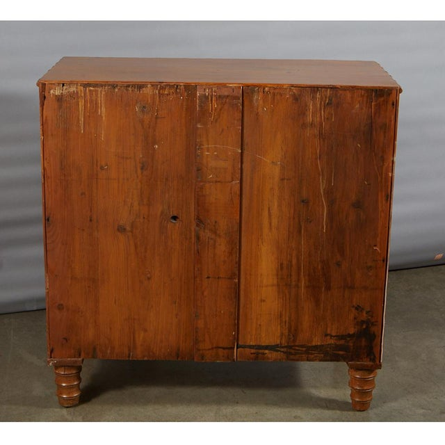 Brown French Pine Faux Bamboo Chest of Drawers For Sale - Image 8 of 9