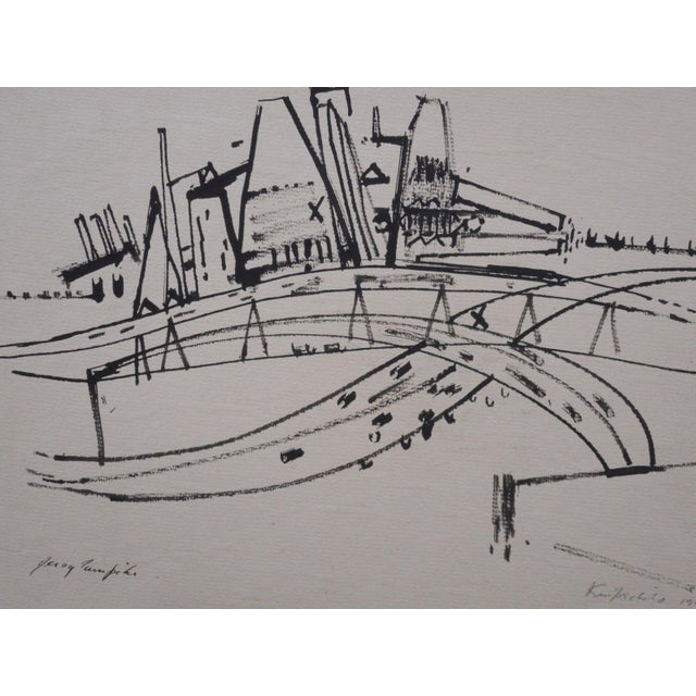 Jersey Turnpike-Pencil Signed - Image 3 of 3