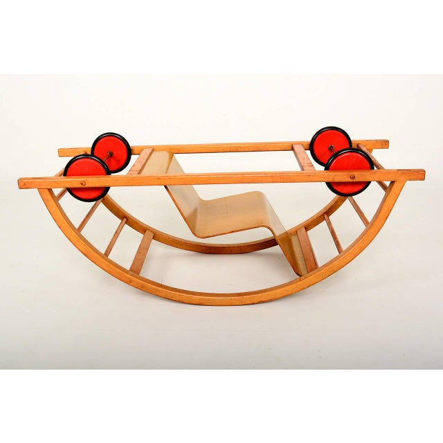 Vintage Schaukelwagen Swing and Race Car Toy, Midcentury For Sale In San Diego - Image 6 of 6