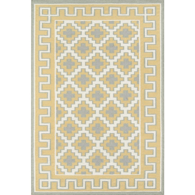 Gold Erin Gates by Momeni Thompson Brookline Gold Hand Woven Wool Area Rug - 7′6″ × 9′6″ For Sale - Image 8 of 8