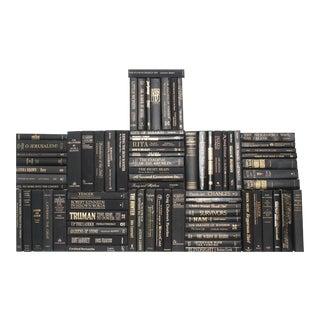 Retro Black & Gold Book Wall, S/75