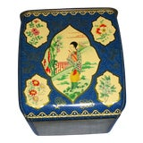 Image of Vintage 1940s Japanese Tea Tin For Sale