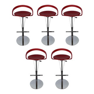 Cayman Bar Stools by Fasem - Set of 5 For Sale