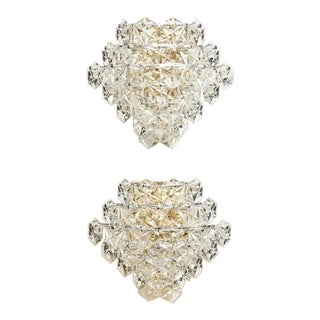 Glamorous Vintage Kinkeldey Crystal Sconces For Sale