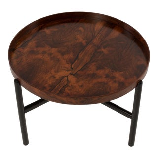 Mid-Century Rosewood Tray Coffee Table For Sale