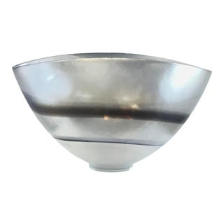 Global Views Modern Moon Stone Large Art Glass Bowl For Sale