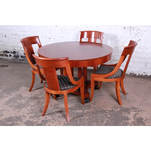 Baker Furniture Company Baker Furniture Palladian Collection Neoclassical Cherry Wood Dining Set For Sale - Image 4 of 13