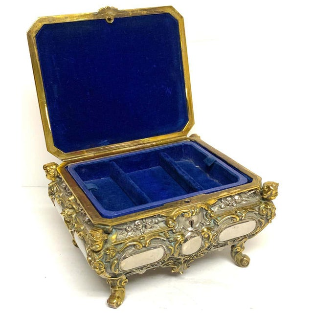 Silvered Bronze and Ormolu Jewelry/Table Box For Sale - Image 10 of 12