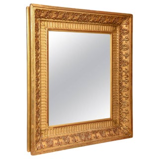 18th/19th Century Giltwood French Napoleon III Mirror For Sale