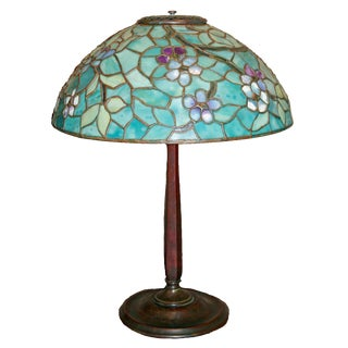 C. 1905 Tiffany Studios Apple Blossom Table Lamp For Sale