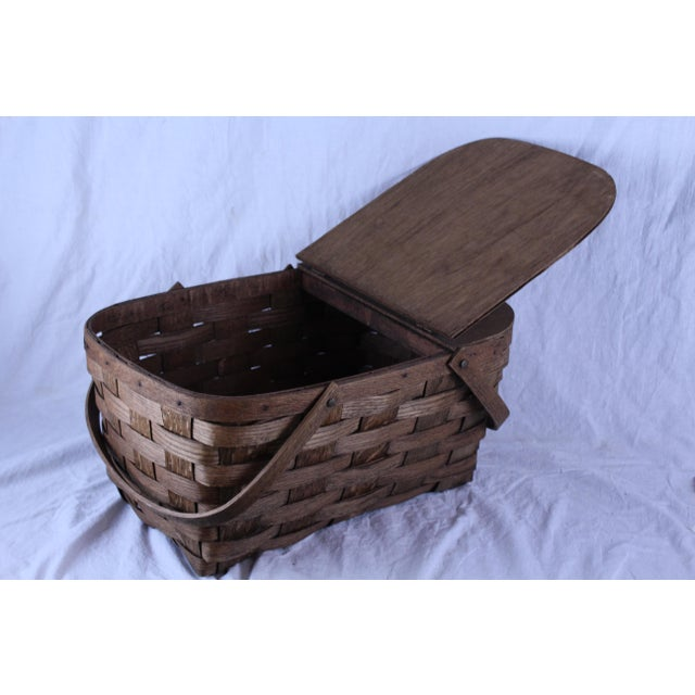 Antique Picnic Basket For Sale In New York - Image 6 of 6