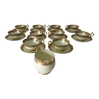 Vintage Bell China English Coffee Service 10 + 1 For Sale