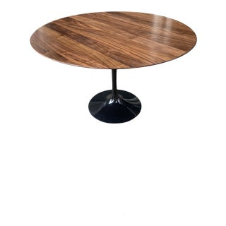 """Saarinen for Knoll 48"""" Solid Walnut Dining Table For Sale"""