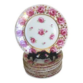 Coalport Felt Spar Porcelain Dessert Plates, 1820 - Set of 8