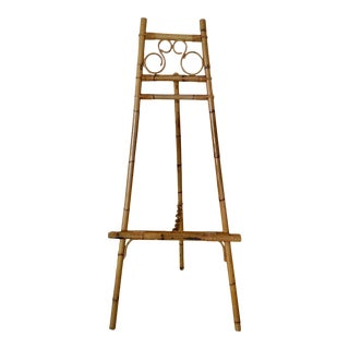1970s Bamboo Rattan Easel For Sale