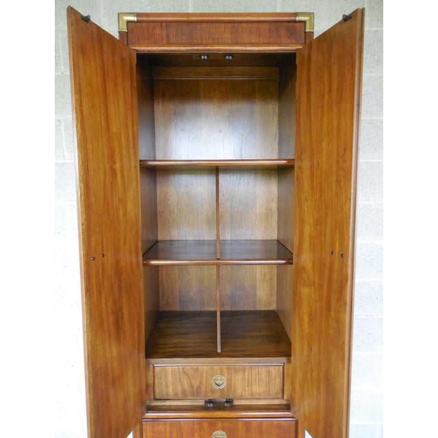 Drexel Heritage Accolade Campaign Style Armoire For Sale In Philadelphia - Image 6 of 11
