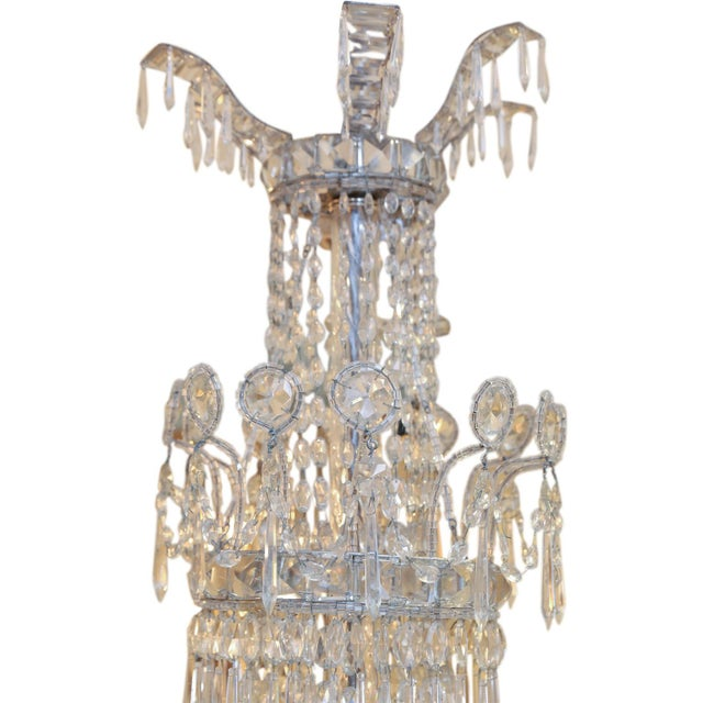 Large Eight-Light Crystal Chandelier For Sale In Houston - Image 6 of 8