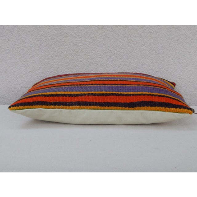 Vintage Turkish Kilim Lumbar Pillow For Sale - Image 4 of 6
