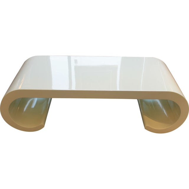 Soft Yellow Coffee Table - Image 1 of 4