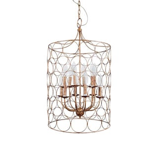 Classic Gold Finish Metal Chandelier For Sale