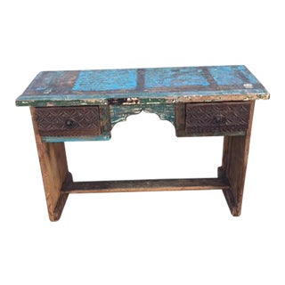Reclaimed Wood Writing Table