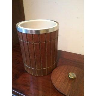 Vintage Mid-Century Modern Danish Style Wood Ice Bucket Preview