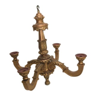 Giltwood Chandelier For Sale