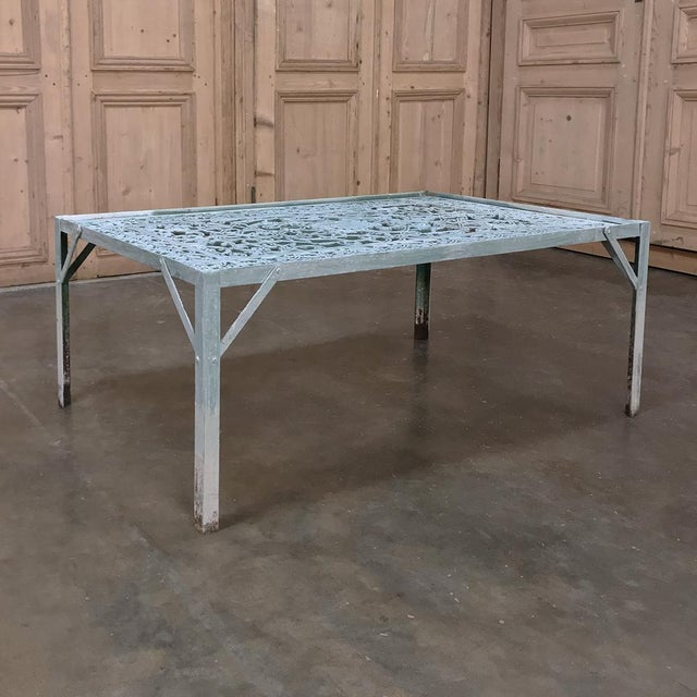 19th Century Iron Panel Coffee Table For Sale - Image 4 of 12
