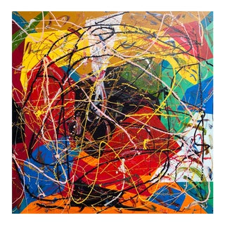 "Acrylic Painting by Artist Troy Smith - 48"" X 48"" Contemporary Art - Abstraction For Sale"