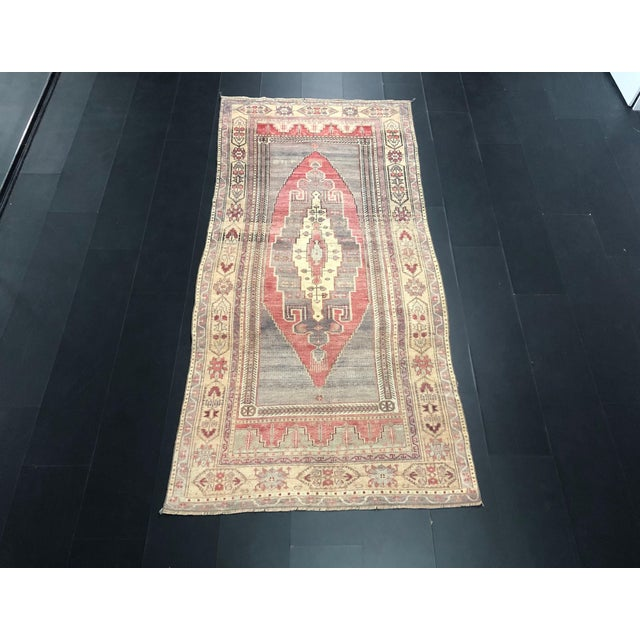 Faded Turkish Oushak Traditional Rug-4'6'x9'6' For Sale - Image 11 of 11