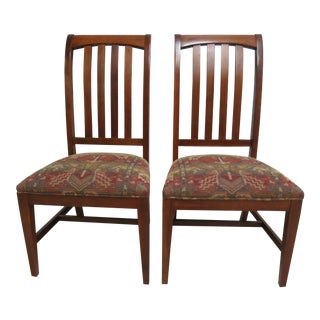 Ethan Allen Mission American Impressions Cherry Dining Room Side Chairs - a Pair