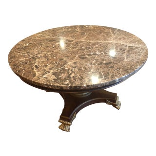 Drexel Heritage Marble Top Center Table For Sale