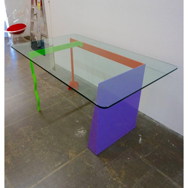 "Memphis Peter Shire ""Memphis Milano"" Desk, 1982 For Sale - Image 3 of 6"