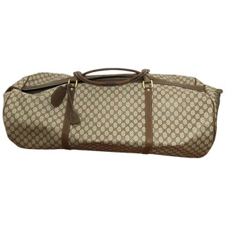 Huge Vintage Gucci Monogram Duffel Bag For Sale