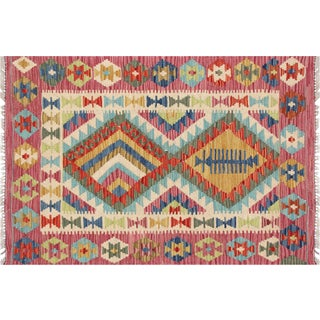 "Nalbandian - Contemporary Afghan Maimana Kilim - 2'8"" X 3'10"" For Sale"