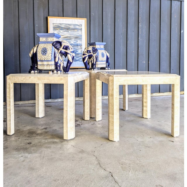 Maitland Smith Tessellated Coral Side Tables - a Pair For Sale In Dallas - Image 6 of 10