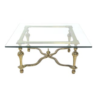 20th Century Hollywood Regency Square Coffee Table For Sale