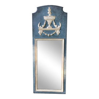 Louis XV Style Painted and Gilt Neoclassic Mirror For Sale
