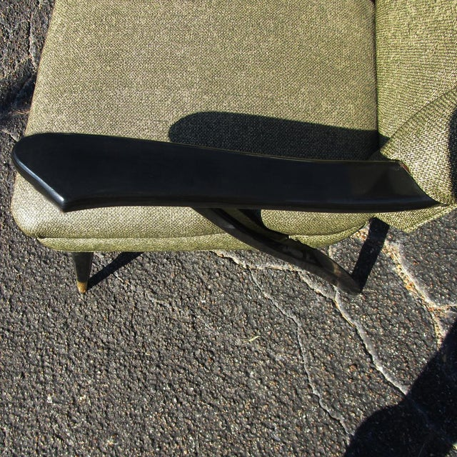 Green Vintage Mid-Century Pair of Italian Style Lounge Chairs Mr14715 For Sale - Image 8 of 9
