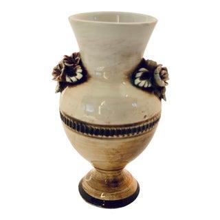 Vintage Italian Capodimonte Style Porcelain Bud Vase For Sale