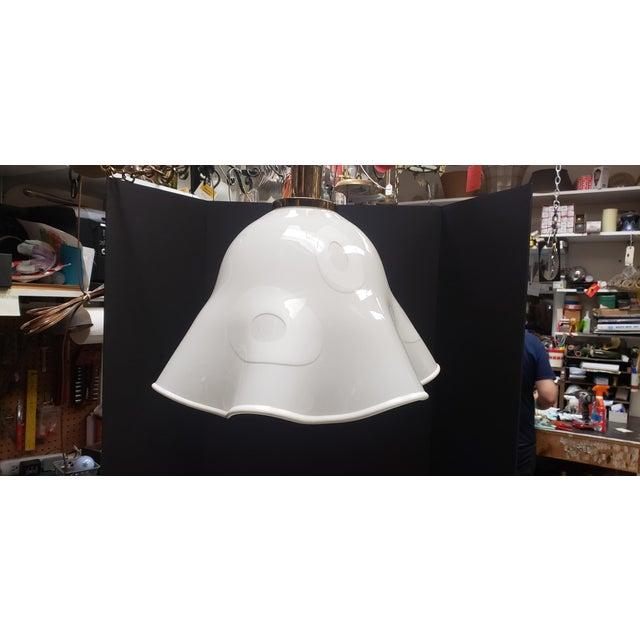 White Groovy Handkerchief Murano Pendant Light For Sale - Image 11 of 11