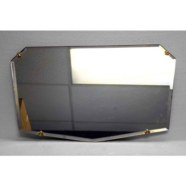 Unusual Small Geometric Shaped Beveled Frameless Mirror For Sale - Image 6 of 6