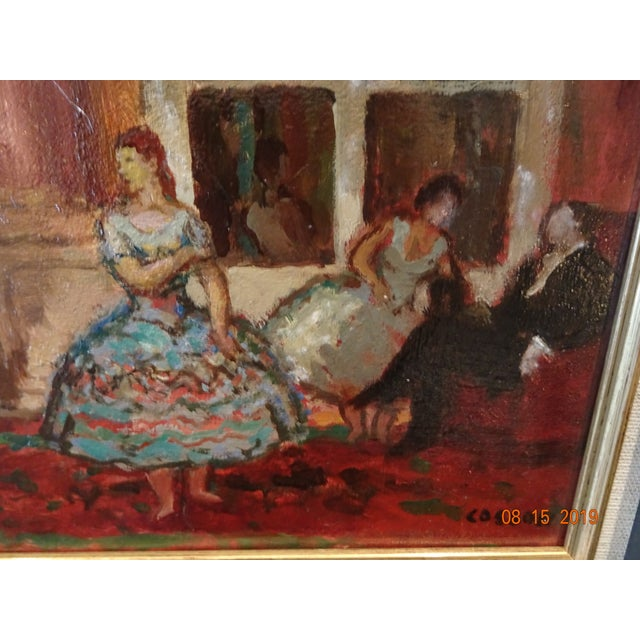 1920s Oil on Board by Marcel Cosson For Sale - Image 5 of 13
